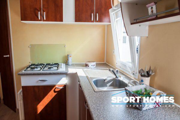 casa prefabricada Trigano Sympa vista de cocina