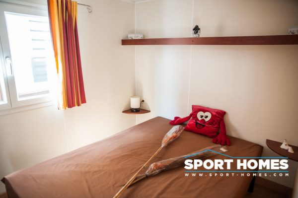 casa prefabricada Trigano Sympa vista dormitorio de matrimonio