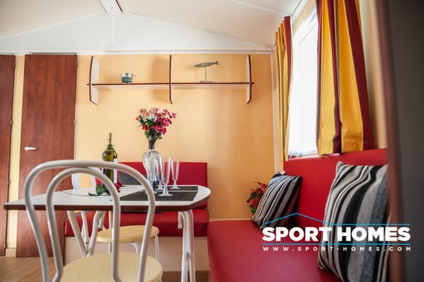casa prefabricada Trigano Sympa vista salón