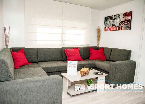 Casa prefabricada nueva Caribe Plus Costa Rica 3CH salón