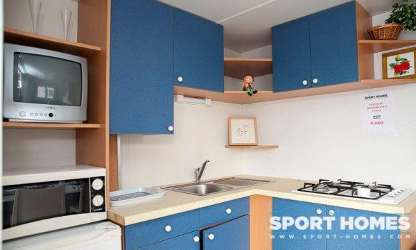 Casa prefabricada Lousiane Mediterráneo porche cocina 1