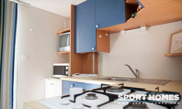 Casa prefabricada Lousiane Mediterráneo porche cocina 2