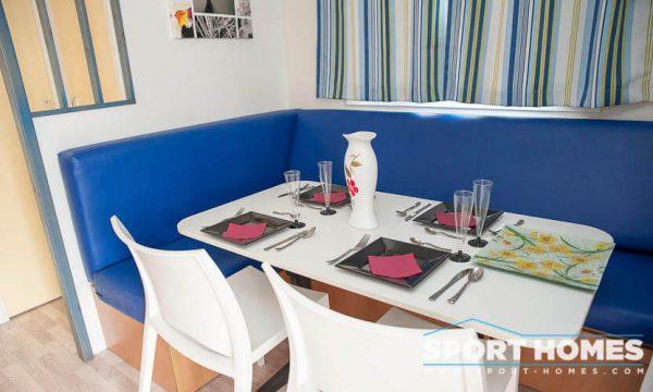 Casa prefabricada Lousiane Mediterráneo porche comedor