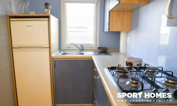 Casa prefabricada de ocasión Louisiane Savanah Blue cocina
