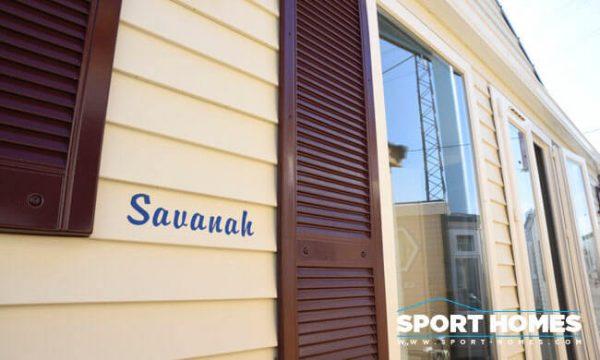 Casa prefabricada de ocasión Louisiane Savanah Blue exterior