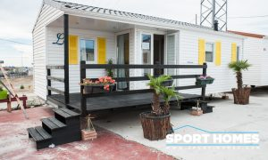 Exterior de la mobil home Louisiane Pacifique